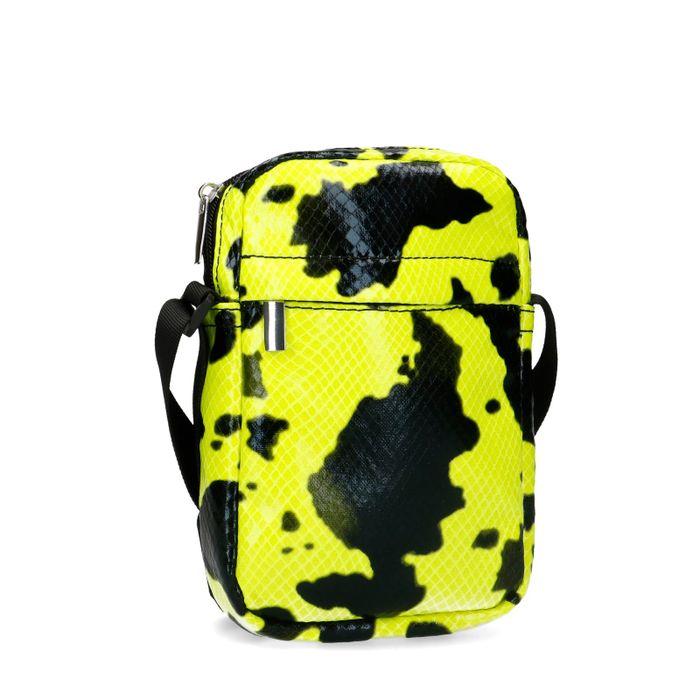 Neon gele crossbody bag