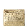 Goudkleurige cardholder met crocoprint