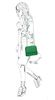 Groene schoudertas