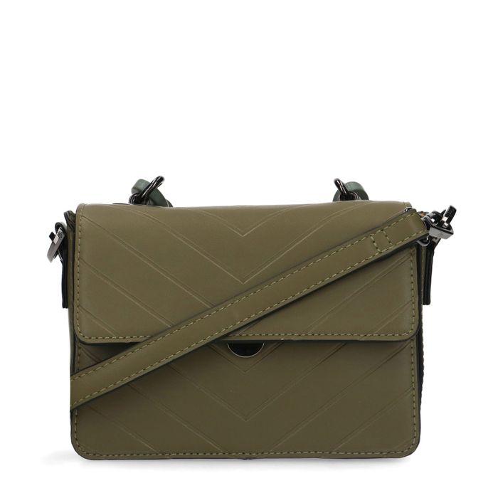 Groene schoudertas met chain detail