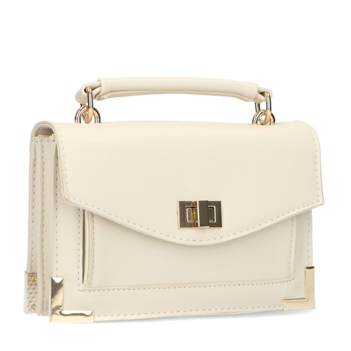 Off white mini bag met gouden details