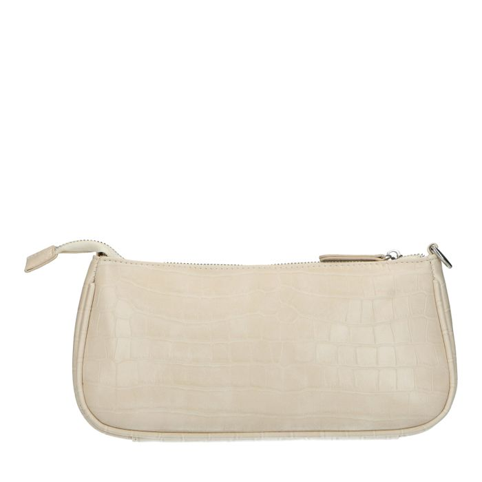 Off white tas met crocoprint
