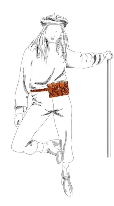 Oranje snake heuptasje