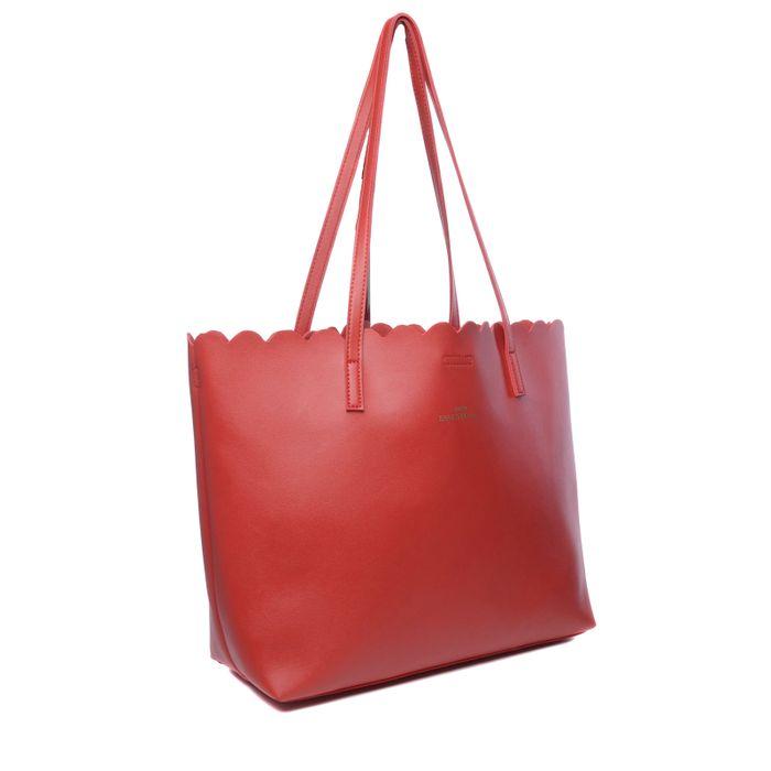 Rode shopper met binnentas