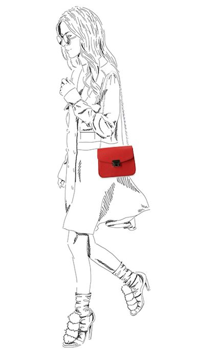 Schoudertas rood