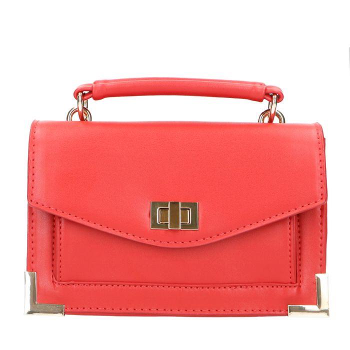 Rode mini bag met gouden details