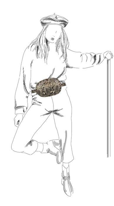 Snakeskin heuptasje