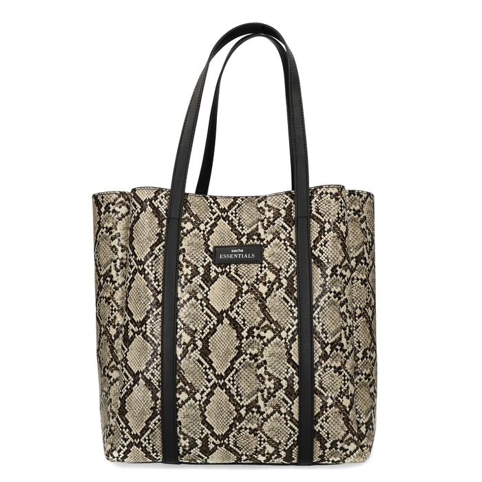 Snakeskin shopper