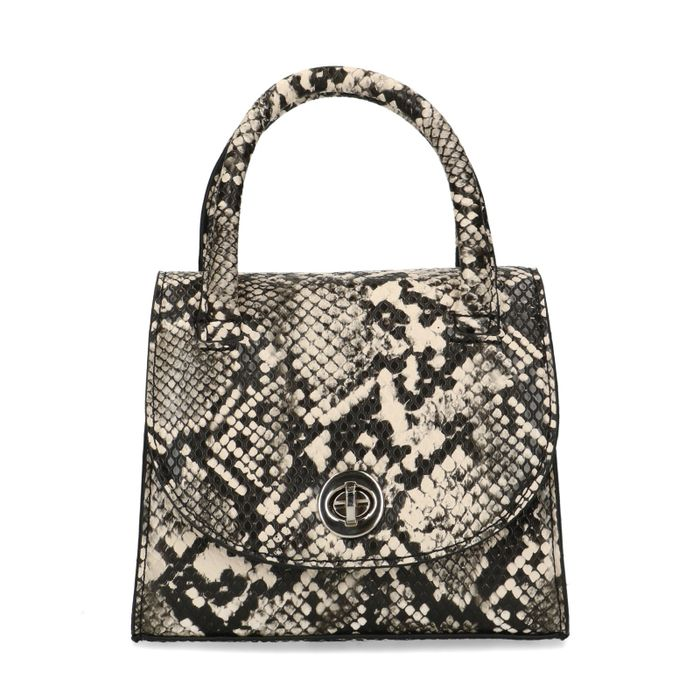 Mini bag met snakeskin