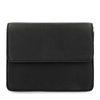 Zwarte schoudertas met zilveren details
