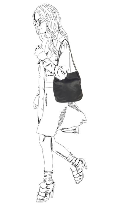 Zwarte shopper met magneetsluiting