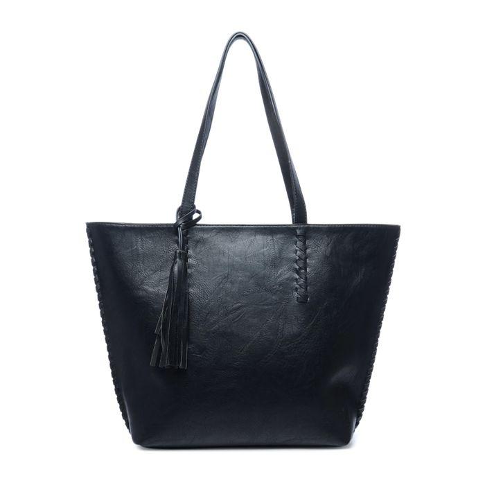 Zwarte shopper met extra binnentas