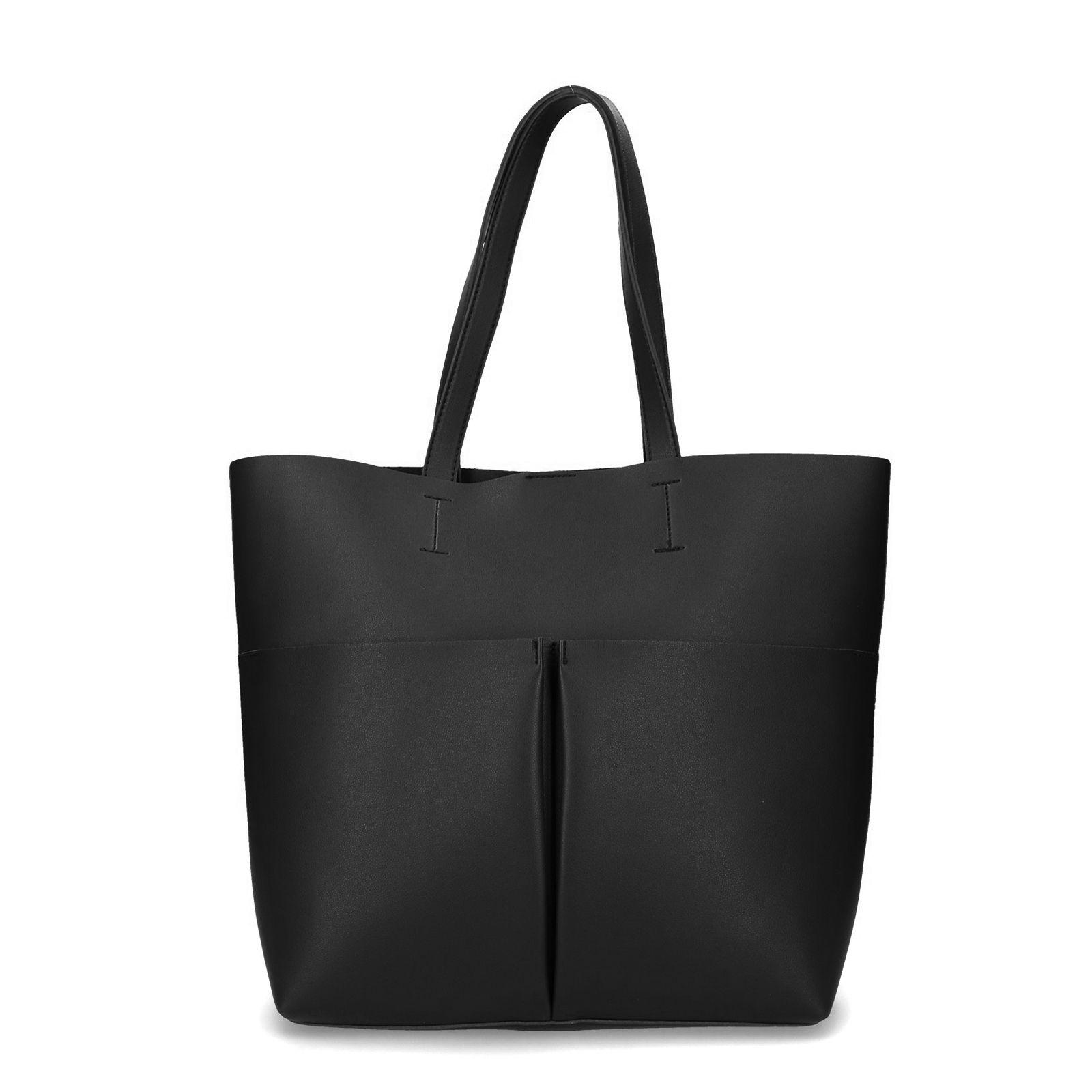 Zwarte shopper