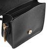 Zwarte schoudertas met gouden panter
