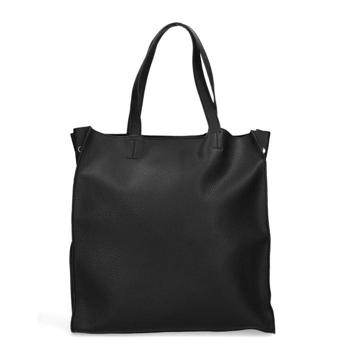 8917d8a1012 Zwarte shopper met zilveren detail - Tassen – SACHA