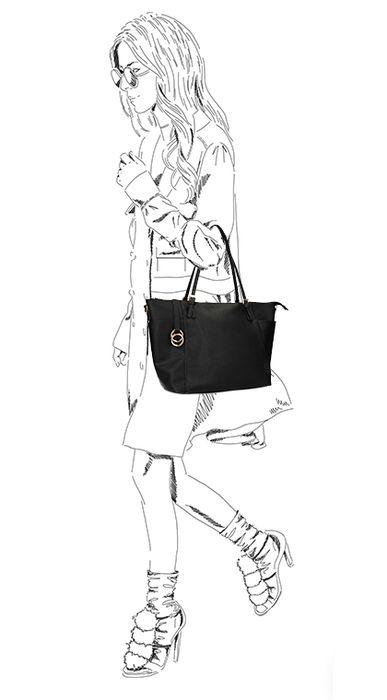Zwarte handtas met rits