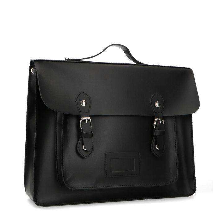 Zwarte rugzak met gespen