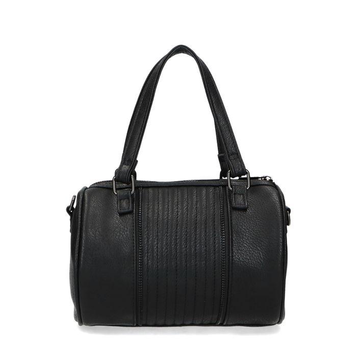Zwarte handtas met ritsen