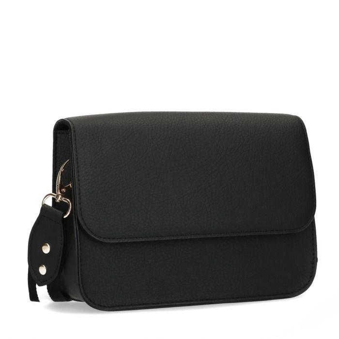 Zwarte schoudertas met twee straps