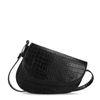 Zwarte tas met crocoprint