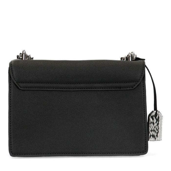 Zwarte schoudertas met chain