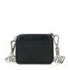 Zwarte mini portemonnee met grove chain