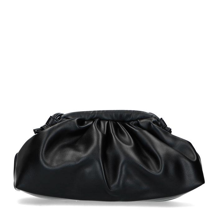 Zwarte clutch met plooidetail