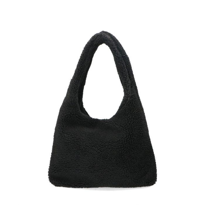 Zwarte teddy dropbag