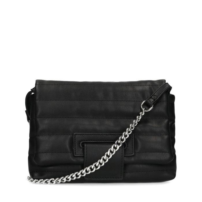 Zwarte puffer schoudertas