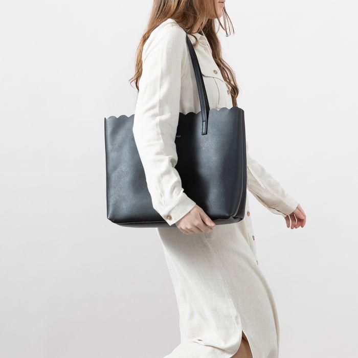 Zwarte tas met clutch