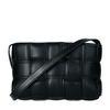 Zwarte gevlochten schoudertas