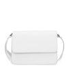 Witte schoudertas zilveren details
