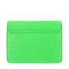 Neon groene schoudertas met snakeskin print