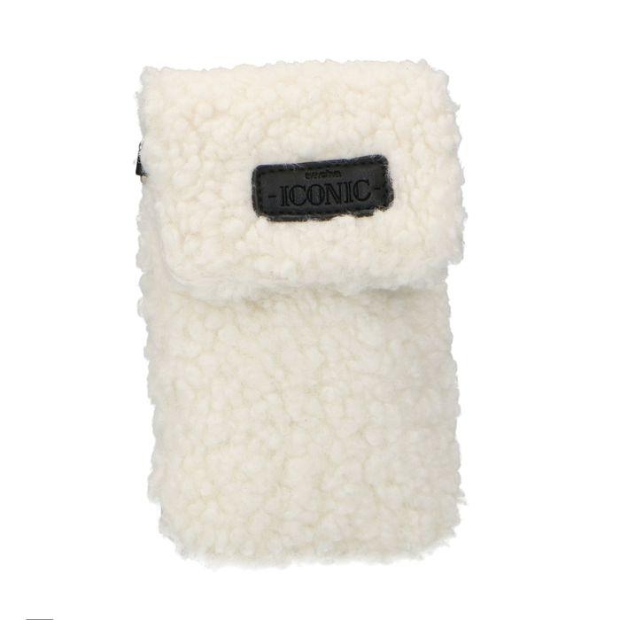 Off white teddy telefoontasje