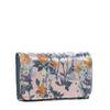 Kleine roze portemonnee met bloemen