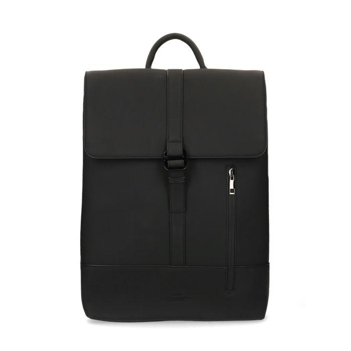 Zwarte rugzak met laptopsleeve