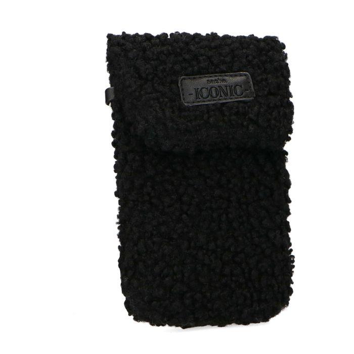 Zwart teddy telefoontasje