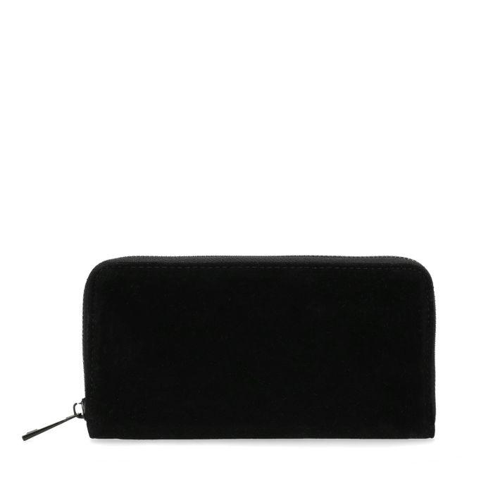 Zwarte suèdine portemonnee
