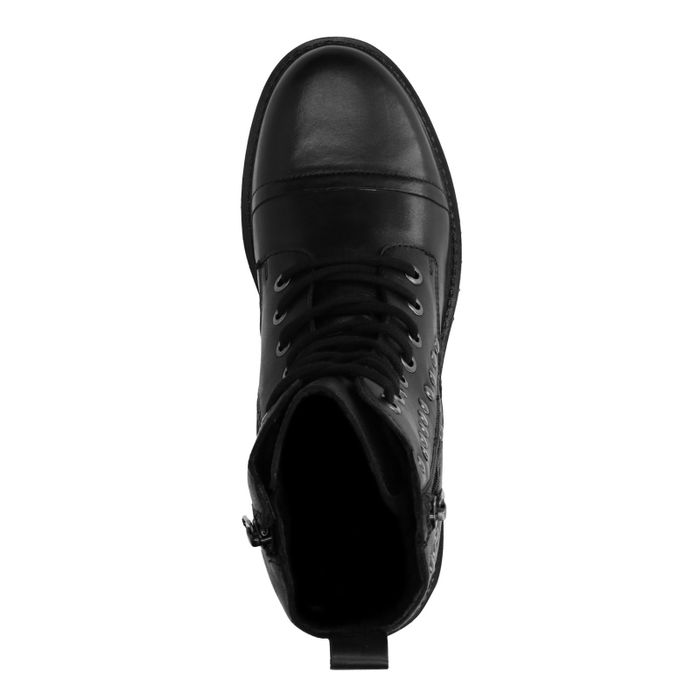 Zwarte biker boots met studs