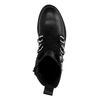 Bottines motardes avec lacets larges - noir