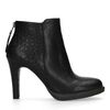 Bottines stiletto en cuir - noir