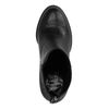 Zwarte enkellaarsjes met hak croco print