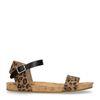 Panterprint sandalen