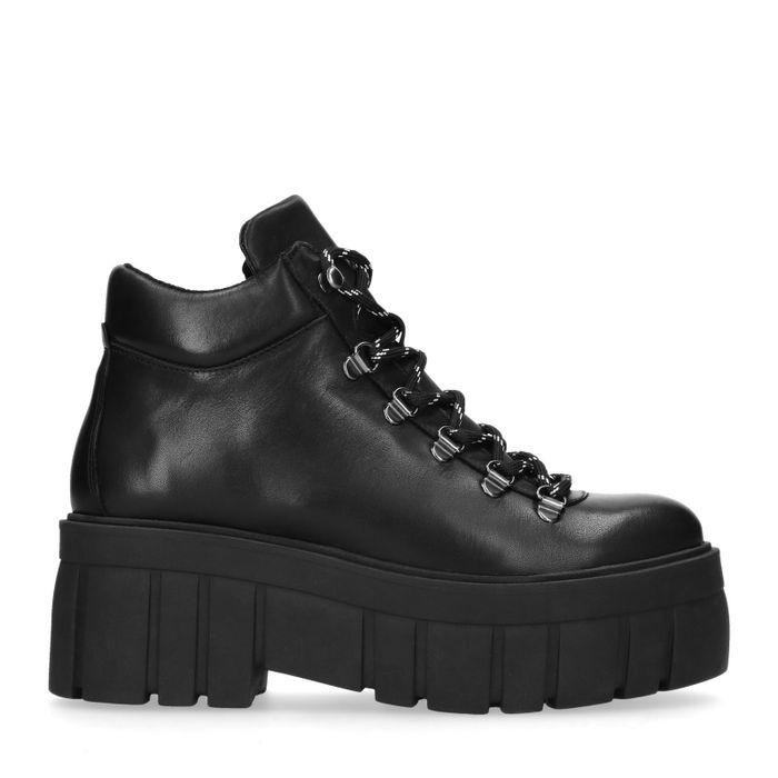 Zwarte leren hiker boots