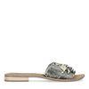 Snakeskin leren slippers