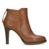 Bottines stiletto en cuir - marron