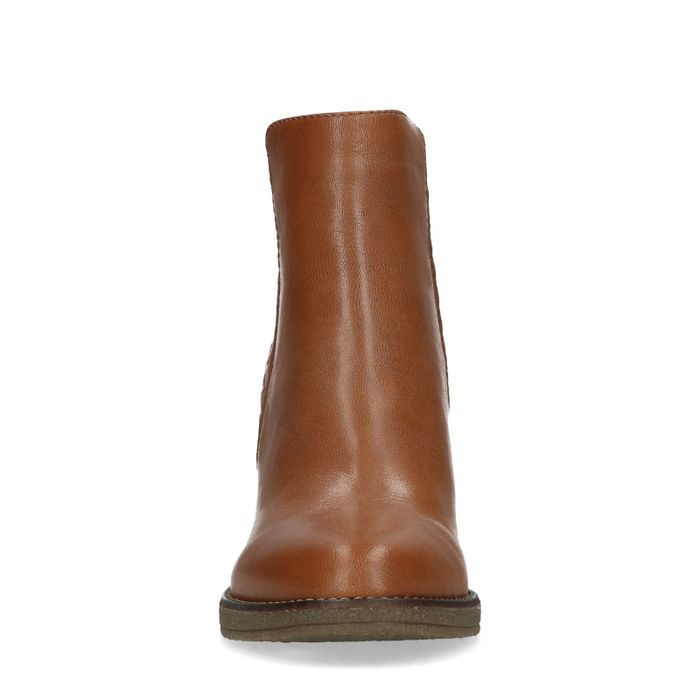 Bottines stiletto - cognac