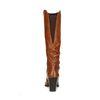 Bottes hautes en cuir avec talon - marron