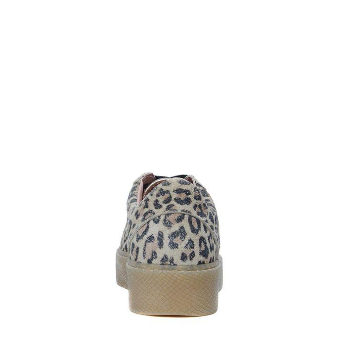 Baskets à plateforme avec imprimé léopard