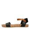 Sandales avec bride cognac - noir